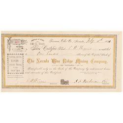 Nevada Blue Ridge Mining Co. Stock Certificate   (91822)