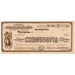 Cornucopia Cons. Gold & Silver Mining Co. Stock (G.T. Brown)  (100739)