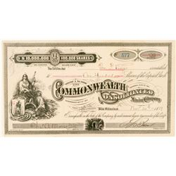 Commonwealth Consolidated Mining Co. Stock Certificate  (100725)