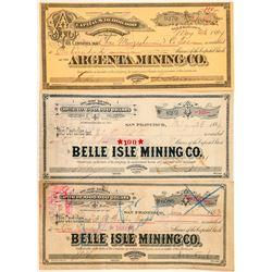 Three Tuscarora Mining Stock Certificates  (100936)