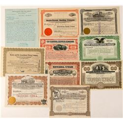 Ely, Nevada Mining Stock Certificate Collection  (101601)