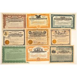 Ely, Nevada Mining Stock Certificate Collection  (102187)