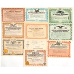 Ely, Nevada Mining Stock Certificate Collection  (102195)