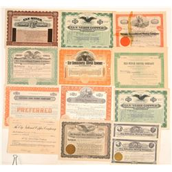 Ely, Nevada Mining Stock Certificate Collection  (102190)