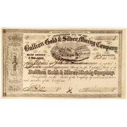 Bullion Gold & Silver Mining Company Stock  (91886)