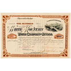 White Mountain Water Company of Nevada Stock Certificate  (91853)
