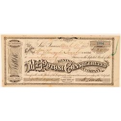 Mt. Potosi Consolidated Mining Co. Stock Certificate  (91859)