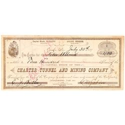 Charter Tunnel & Mining Co. Stock Certificate Number 1  (91586)