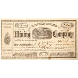 Northwestern Consolidated Mining Co. Stock Certificate Issued to Comstock Constable  (91546)