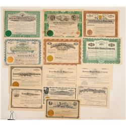 Premier Fairview, Nevada Mining Stock Certificate Collection  (102184)
