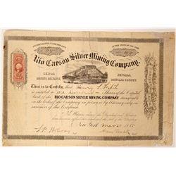 Rio Carson Silver Mining Company Stock - Rare Mining District  (91888)