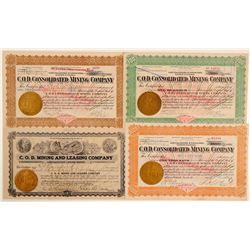 C.O.D. Mining Company Stock Certificates  (102537)