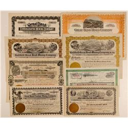 "Goldfield ""Great Bend"" Mining Stock Certificate Collection  (102529)"