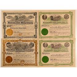 "Goldfield ""Montezuma"" Mining Stock Certificates  (102534)"