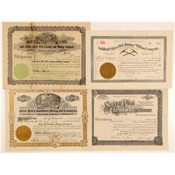 "Goldfield ""Silver Pick"" Mining Stock Certificates  (102538)"