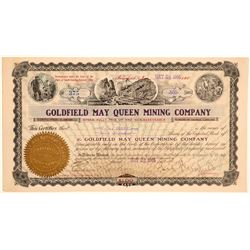 Goldfield May Queen Stock to Tasker Oddie, Signed by George Wingfield  (102203)