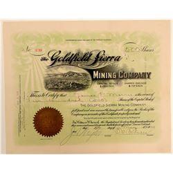 Goldfield Sierra Mining Company Stock Certificate  (102525)