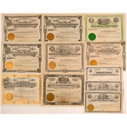 Mostly Unissued Goldfield, Nevada Mining Stock Certificates  (102493)