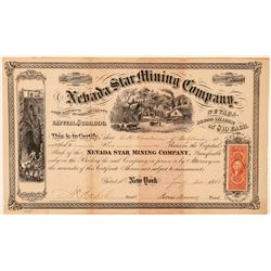 Nevada Star Mining Company Stock Certificate  (100992)