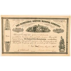 Seminole Silver Mining Company Stock Certificate  (100963)