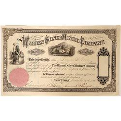 Warren Silver Mining Company Stock  (91887)