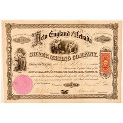 New England & Nevada Silver Mining Co. Stock Certificate  (91857)