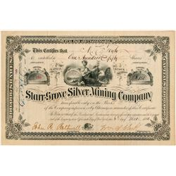 Starr-Grove Silver Mining Company Stock Certificate  (100880)