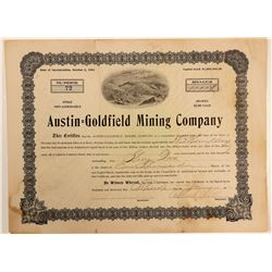 Austin-Goldfield Mining Company Stock Certificate (Wingfield Signed)  (102526)