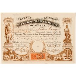 Revenue Extension Silver Mining Co. of Nevada Stock Certificate  (100816)