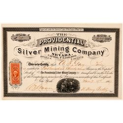 The Providential Silver Mining Co. of Nevada Stock Certificate  (91860)