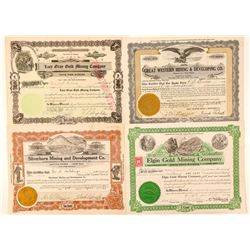 Four Different Lincoln County, Nevada Mining Stocks  (101598)