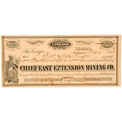 Chief East Extension Mining Co. Stock Certificate  (91864)