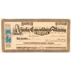 Alaska Consolidated Mining Co. Stock Certificate  (100917)