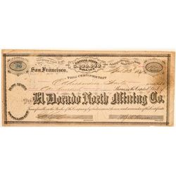 El Dorado North Mining Co. Stock Certificate  (100960)