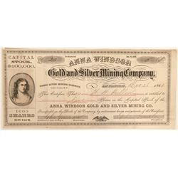 Anna Windsor Gold and Silver Mining Company Stock  (91316)