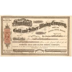 Dunkirk Gold and Silver MIning Company Stock  (91935)