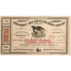 Independent Gold & Silver Mining Company Stock  (91937)