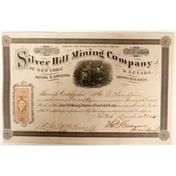 Silver Hill Mining Company of New York and Nevada Stock  (91912)