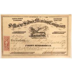 St. Mary's Silver Mining Company Stock  (91939)