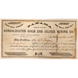 Panama Consolidated Gold and Silver Mining Company Stock  (91902)