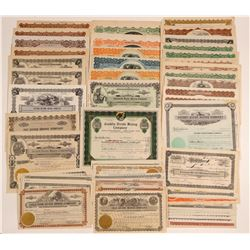 Tonopah Divide Mining Stock Certificate Collection  (102541)