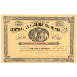 Central Consolidated Mining Co. Stock Certificate  (91838)