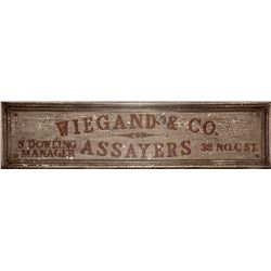 Wiegand & Company Original Sign - Iconic Comstock Assayer   (25301)