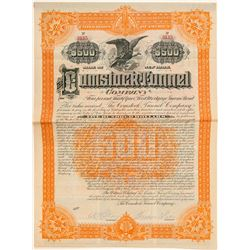 Comstock Tunnel Company Bond Signed by Theodore Sutro  (100933)