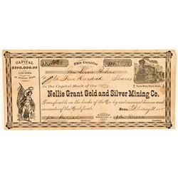 Nellie Grant Gold & Silver Mining Co. Stock Certificate  (91866)