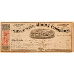 Silver Wave Mining Company Stock Certificate  (100958)