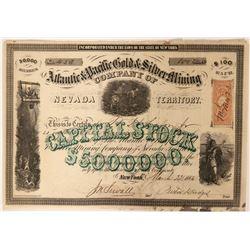 Atlantic & Pacific Gold & Silver Mining Company Stock  (91909)