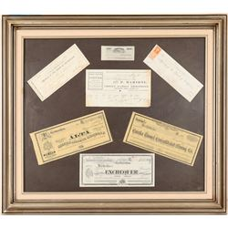 Framed Stocks, Checks and Billheads  (91504)