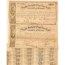 Nevada Freehold Properties Trust Bond--British Scam  (100733)