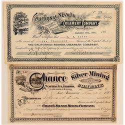 Two Nevada Stocks: Mining & Creamery  (100857)